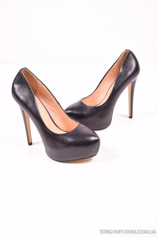 Туфли женские на каблуке цвет черный Gaterinna Размеры в наличии : 35,39 арт.A1-103-KV1135-C1401