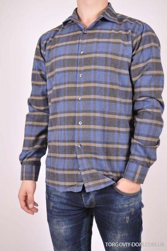 """Рубашка мужская """"Slim fit"""" 100% котон Rieppa Размер ворота в наличии : 46,48,50,52 арт.SKY1228S"""