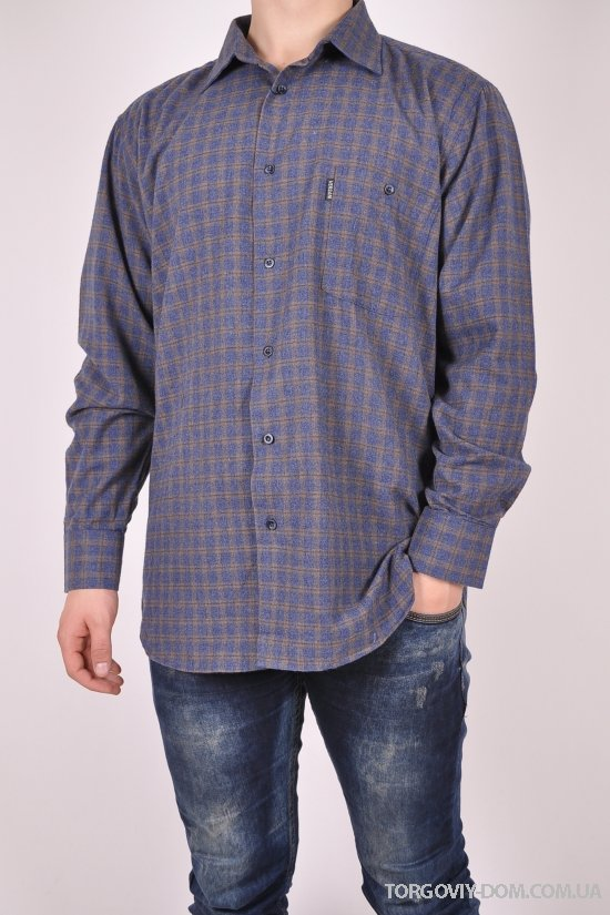 Рубашка мужская  100% котон Versani Размер ворота в наличии : 40,41,42,43 арт.SKY1485