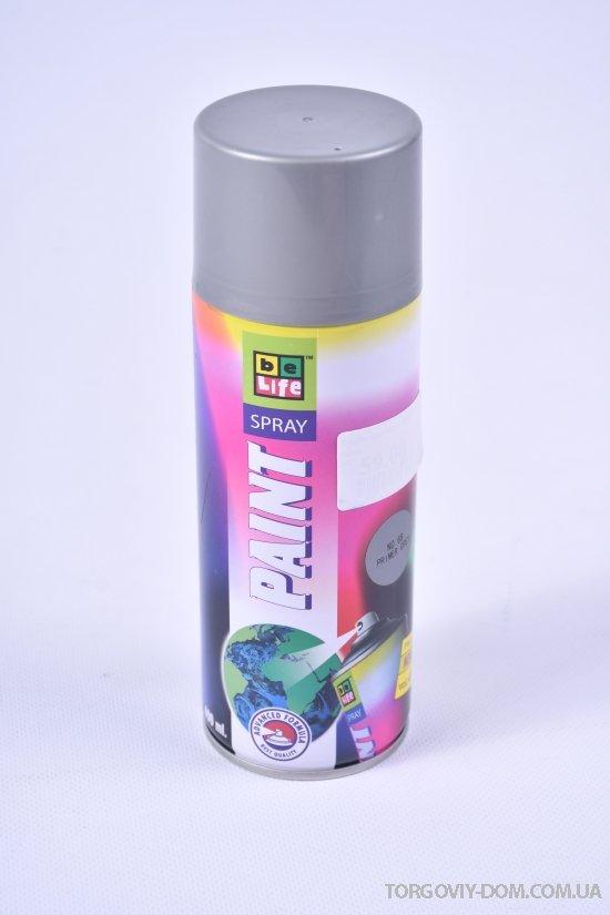 BeLife акриловая краска (лак-грунт) цв.серый 400мл. арт.68