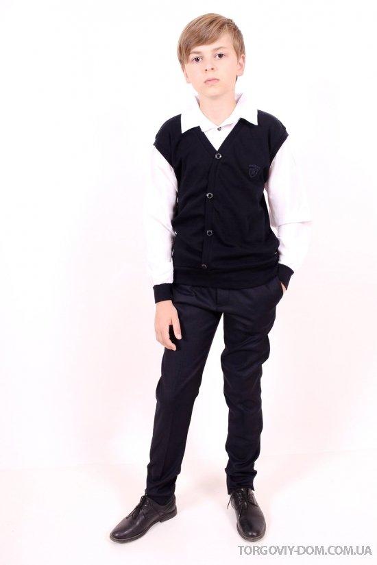 Брюки классические для мальчика (цв.т.синий) BOLD (Polyester 35%,Viscose 65%) Размеры в наличии : 26,28,30,32,34,36 арт.19502
