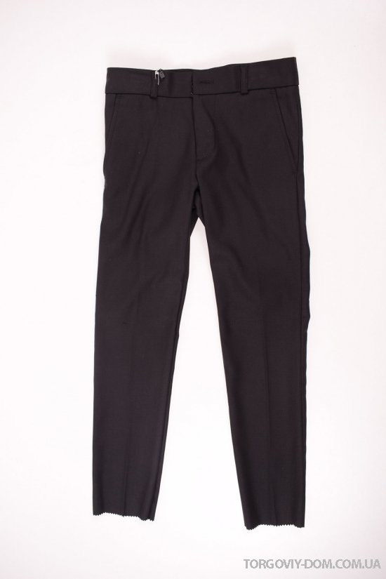 Брюки классические для мальчика (цв.черный) BOLD (Polyester 35%,Viscose 65%) Размеры в наличии : 26,28,30,32,34,36 арт.19502