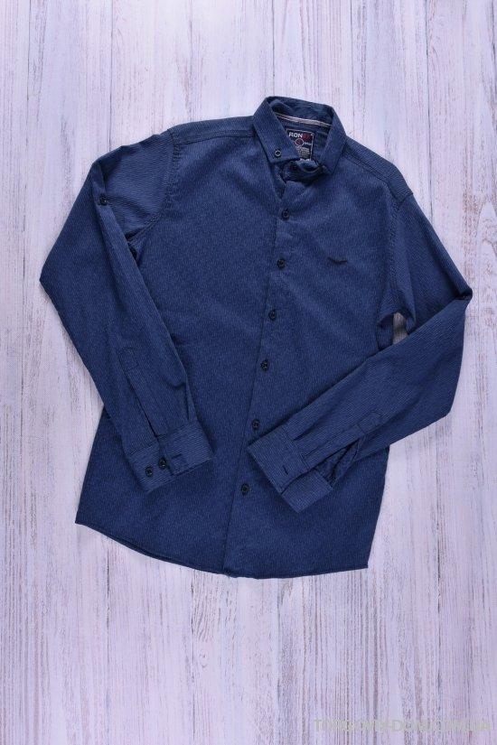 Рубашка мужская (натуральный хлопок,цв.синий) Ronex Размеры в наличии : 44,46 арт.3042