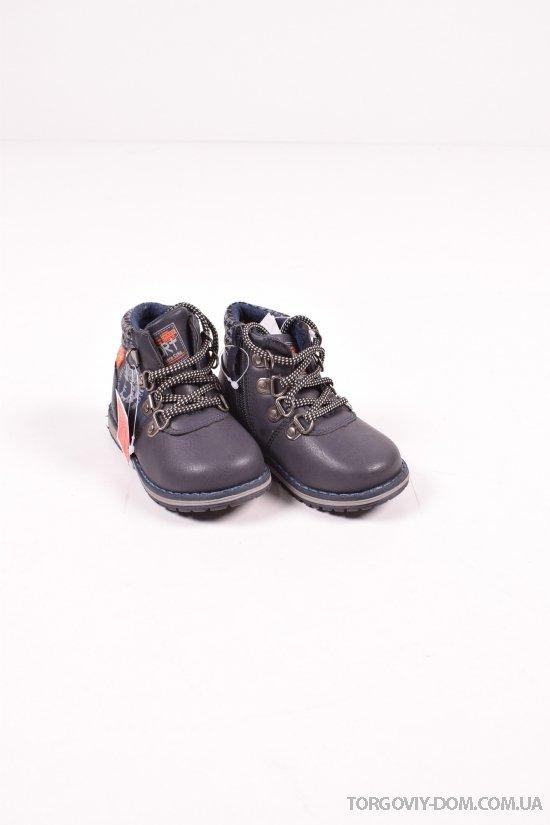 """Ботинки для мальчика демисезонные (цв.синий) """"Леопард"""" Размеры в наличии : 22,23,24,27 арт.W993-2"""