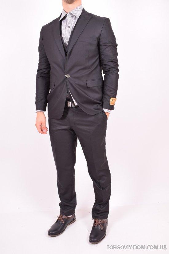 Костюм тройка классический мужской Slim Fit (color 02) рост 6 Daniel Gallotti (Viscose 20%,Wool 80%) Размер в наличии : 52 арт.308