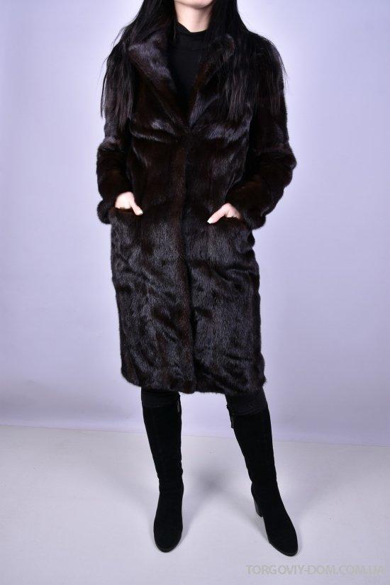 Шуба женская из меха норки цв.махагон объем 100 см дл.100см арт.X-8335