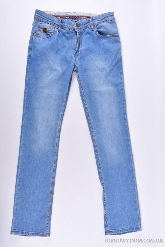 Джинсы мужские стрейчевые c поясом (Slim fit) ANDROMEDA (Cotton 98%,Lycra 2%) Размеры в наличии : 30,31,32,33,34,38 арт.AD4318-1