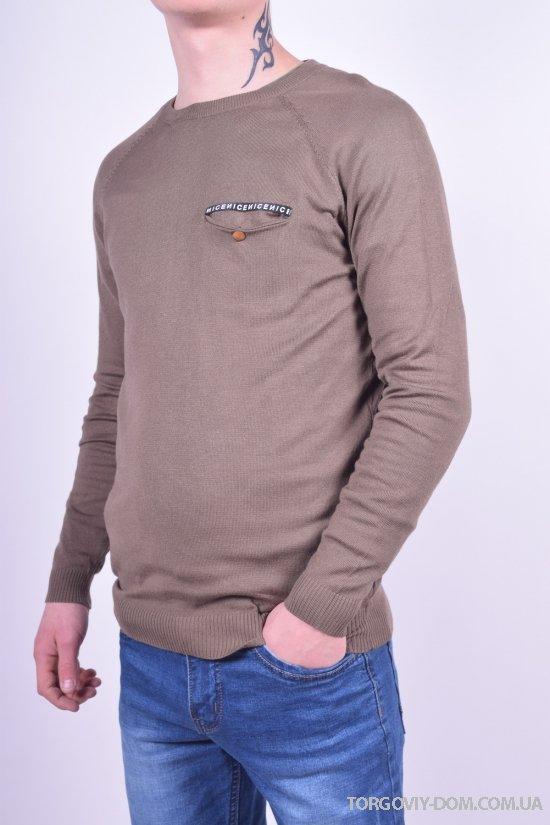 Свитер мужской тонкой вязки (цв.коричневый) WK3 Размеры в наличии : 44,46,48,50,52 арт.813