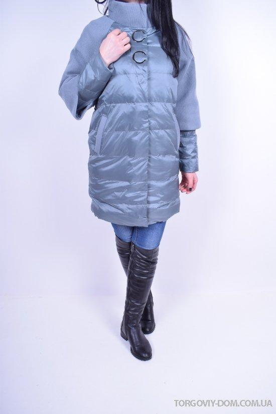 Пальто женское из плащёвки демисезонное (color 17) Crazy Button Размеры в наличии : 44,46,48,50 арт.8811