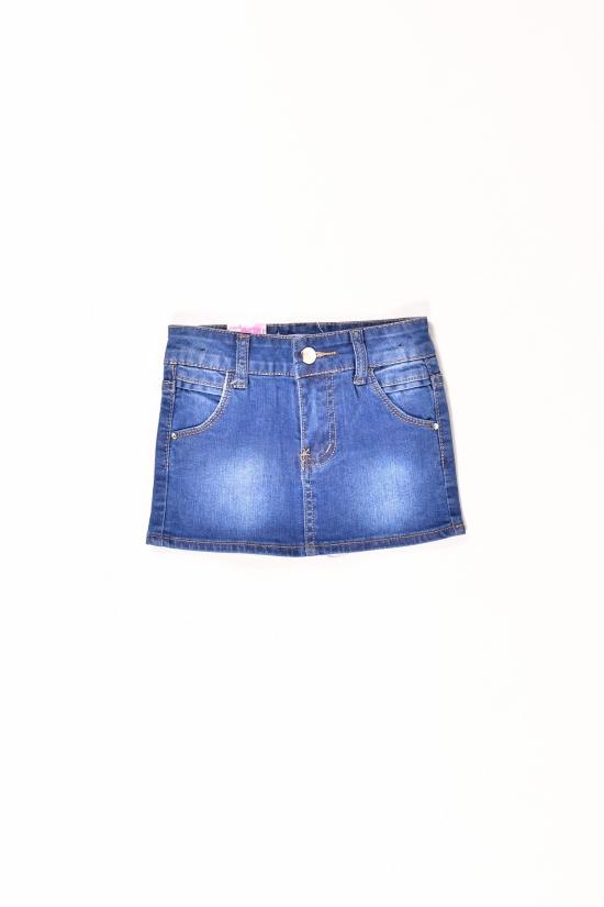 Юбка для девочки джинсовая D&S (Cotton 85%,Polyester 15%) Роста в наличии : 68,74,80,86,92 арт.SK1805