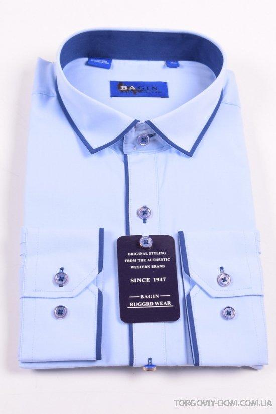 Рубашка мужская (Slim Fit) Bagin (Cotton 80%,Polyester 20%) Размер ворота в наличии : 36,37,39,40,41,42 арт.LD17.89-3
