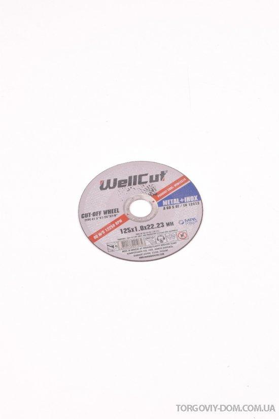 Диск отрезной по металлу Wellcut 125*1.0*22 арт.125*1.0*22