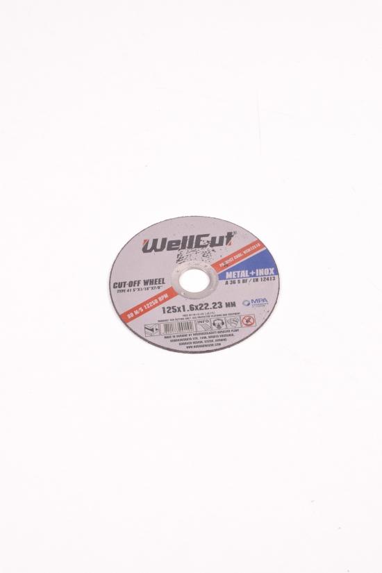 Диск отрезной по металлу Wellcut 125*1.6*22 арт.125*1.6*22