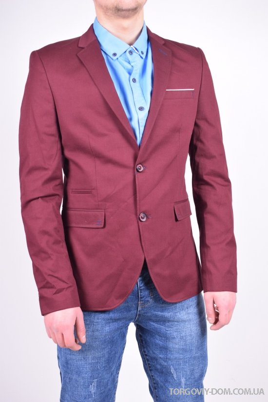 Пиджак мужской классический (цв.бордовый) ETTE Размеры в наличии : 46,50,52 арт.504-2