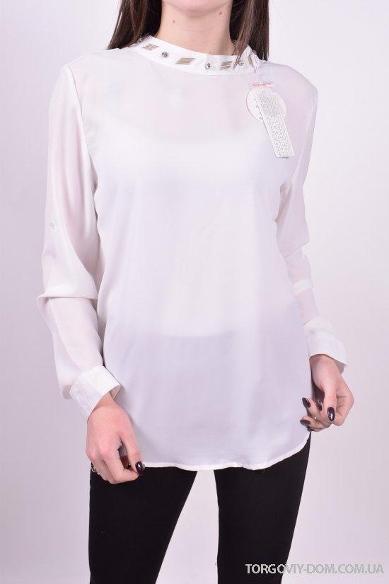 Блуза женская ( цв.белый) Qianzhidu (Polyester 100%) Размеры в наличии : 36,38,40,42,44 арт.B80006