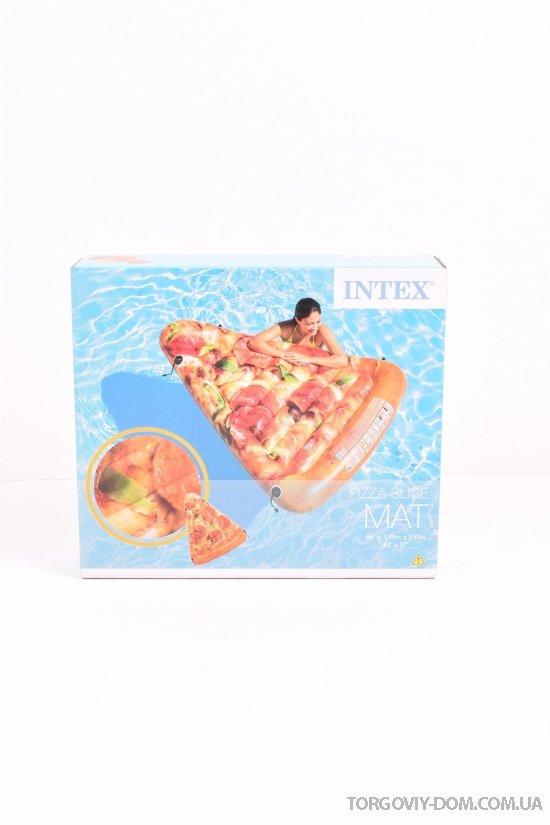 """Надувной матрац """"Пицца"""" винил 175/145см арт.58752"""