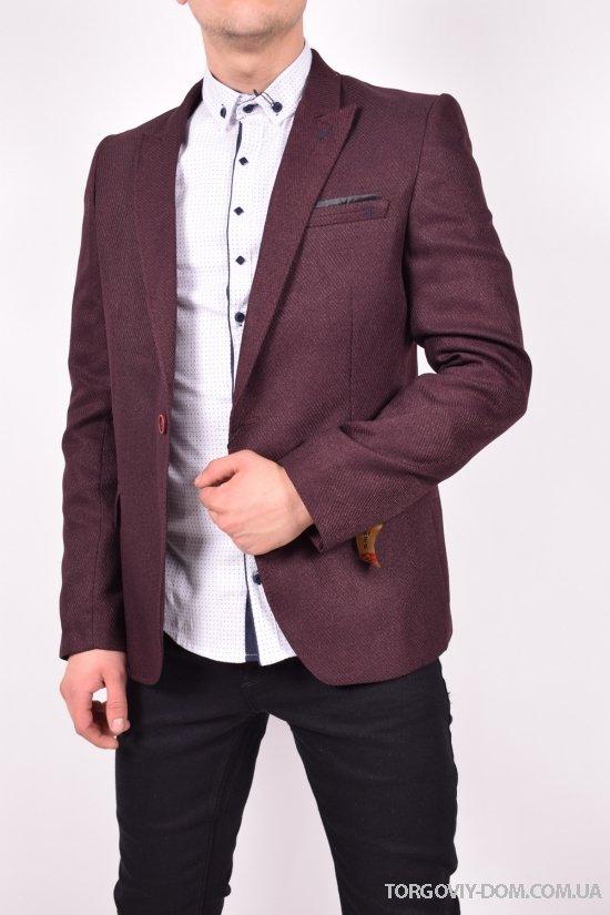 Пиджак мужской (цв.бордовый) JOYMEN Размеры в наличии : 40,42,44,46,48,50 арт.025