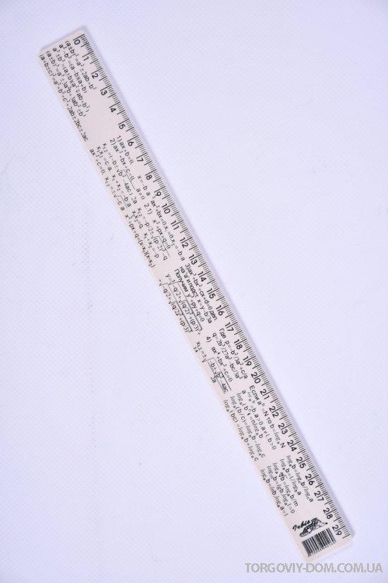 Линейка пластмассовая 30 см.Irbis арт.Алгебра