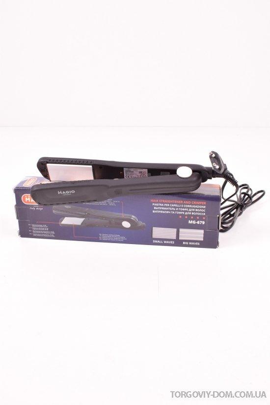Выпрямитель для волос + гофре 25W Magio арт.MG-679