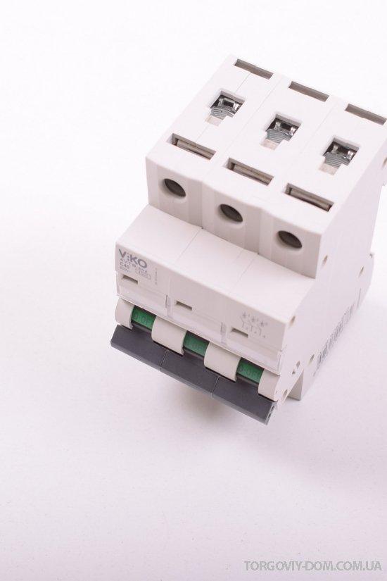 Автоматический выключатель (трёхполюсный) 40 A 4.5 KA 230/400V VIKO арт.4VTB-3C40